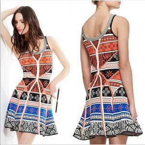 Diane Von Furstenberg Ilsa Geometric Dress- Medium